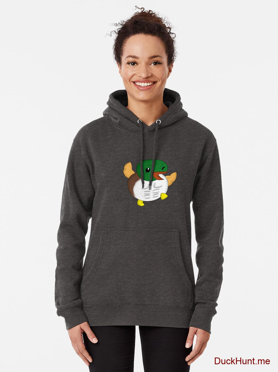 Super duck Charcoal Heather Pullover Hoodie (Front printed) alternative image 1
