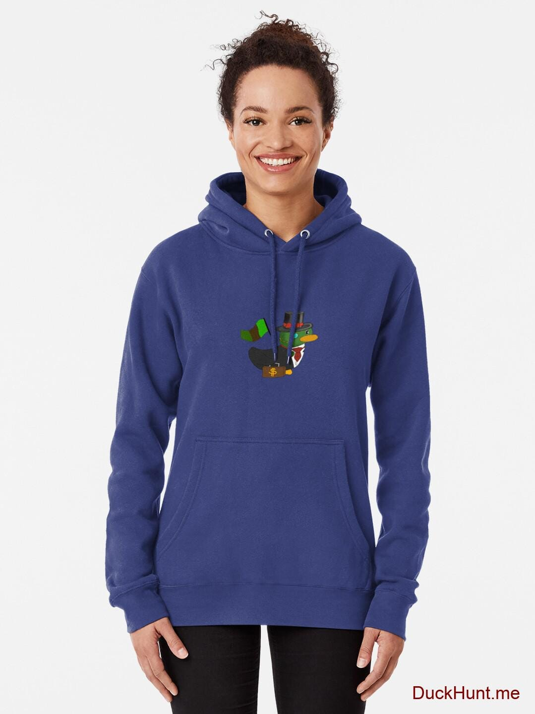 Golden Duck Blue Pullover Hoodie (Front printed) alternative image 1