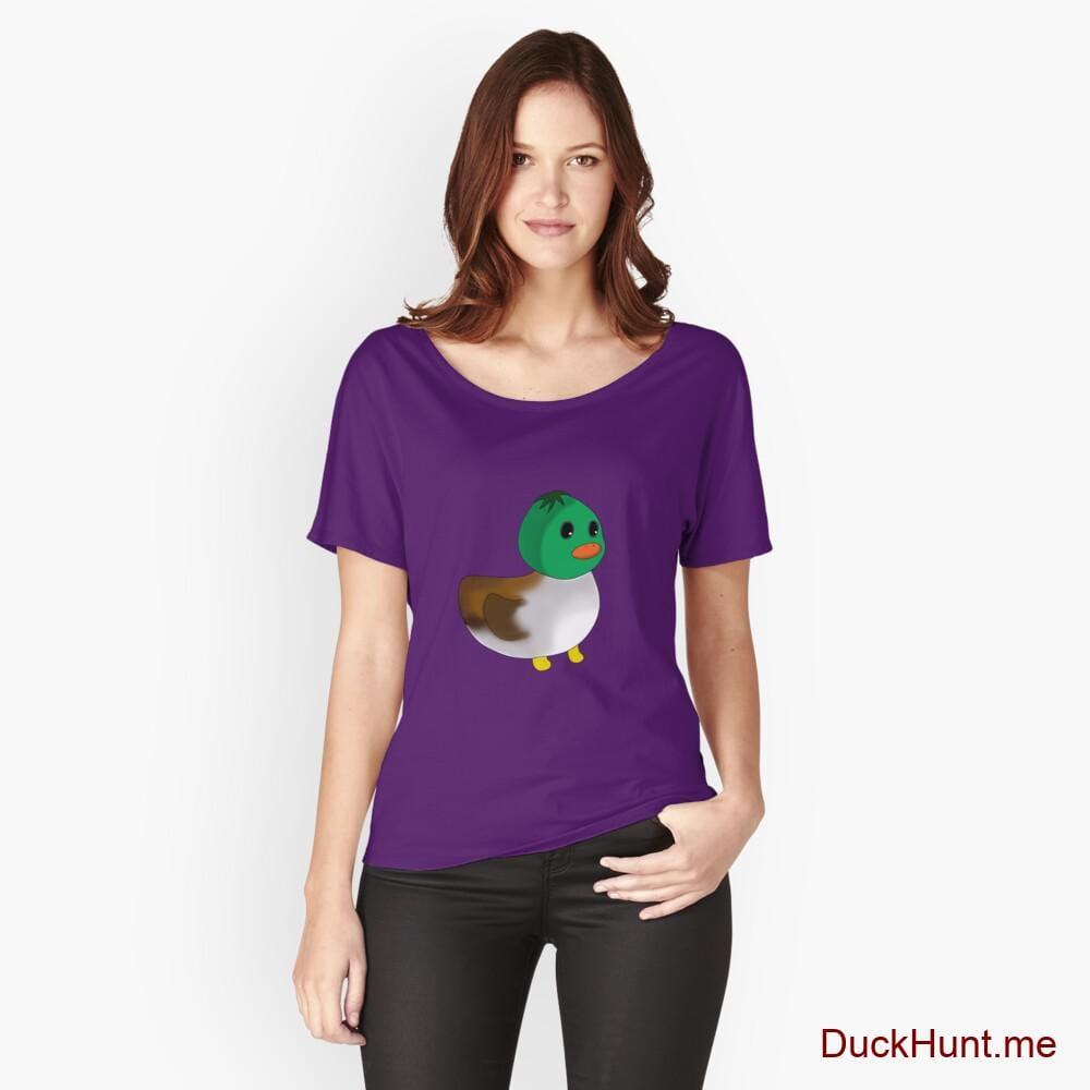 Normal Duck Purple Relaxed Fit T-Shirt (Front printed)