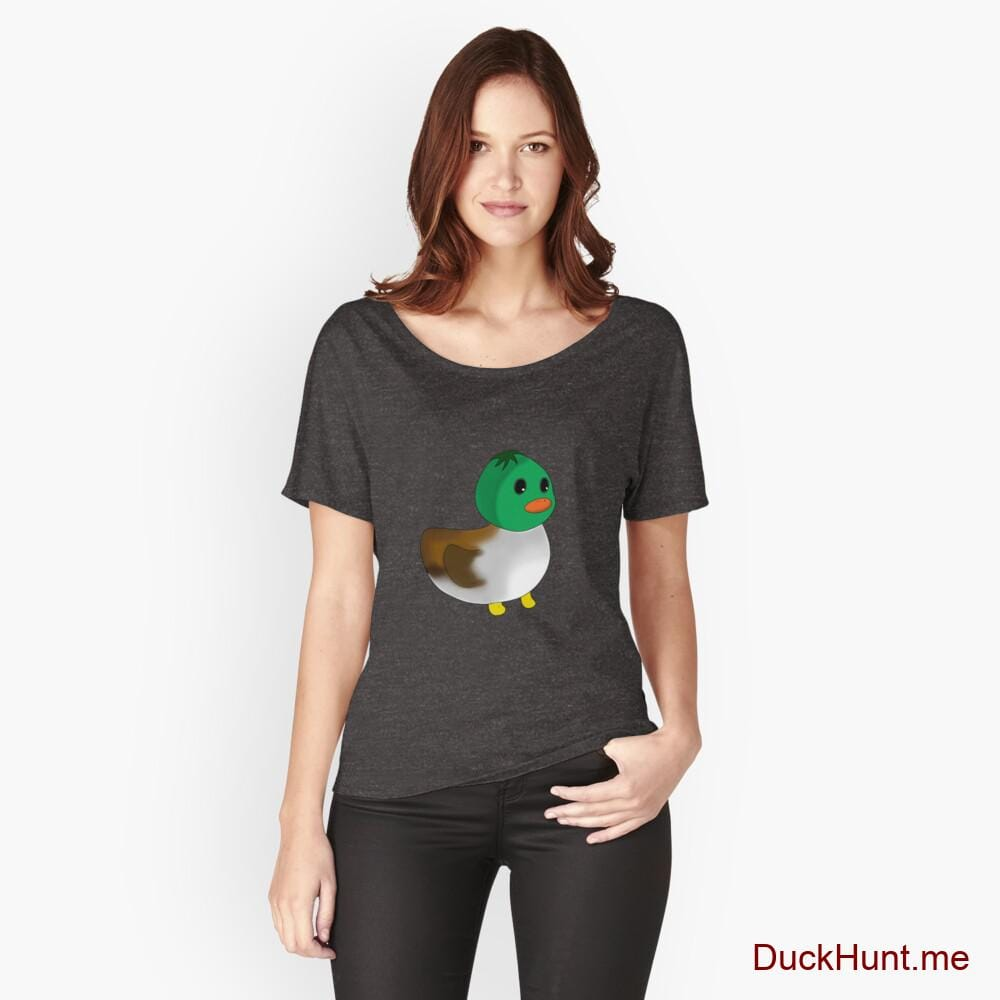Normal Duck Charcoal Heather Relaxed Fit T-Shirt (Front printed)