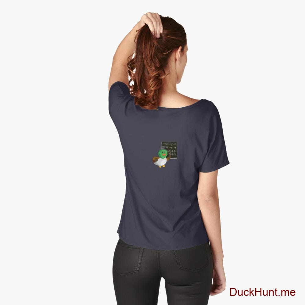 Prof Duck Navy Relaxed Fit T-Shirt (Back printed)