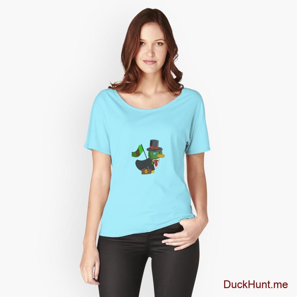Golden Duck Turquoise Relaxed Fit T-Shirt (Front printed)