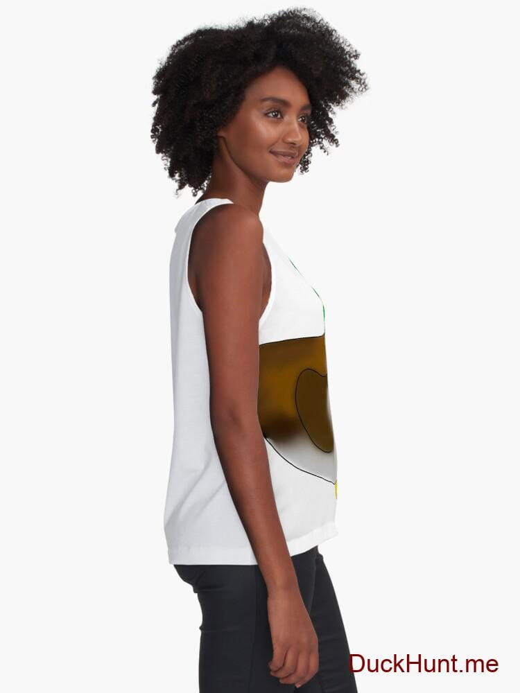 Normal Duck White Sleeveless Top alternative image 1