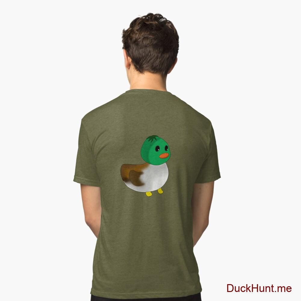 Normal Duck Green Tri-blend T-Shirt (Back printed)
