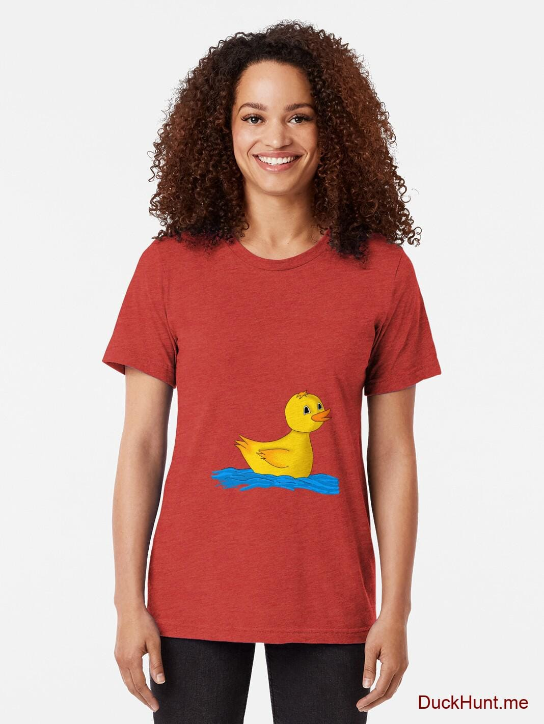 Plastic Duck Red Tri-blend T-Shirt (Front printed) alternative image 1