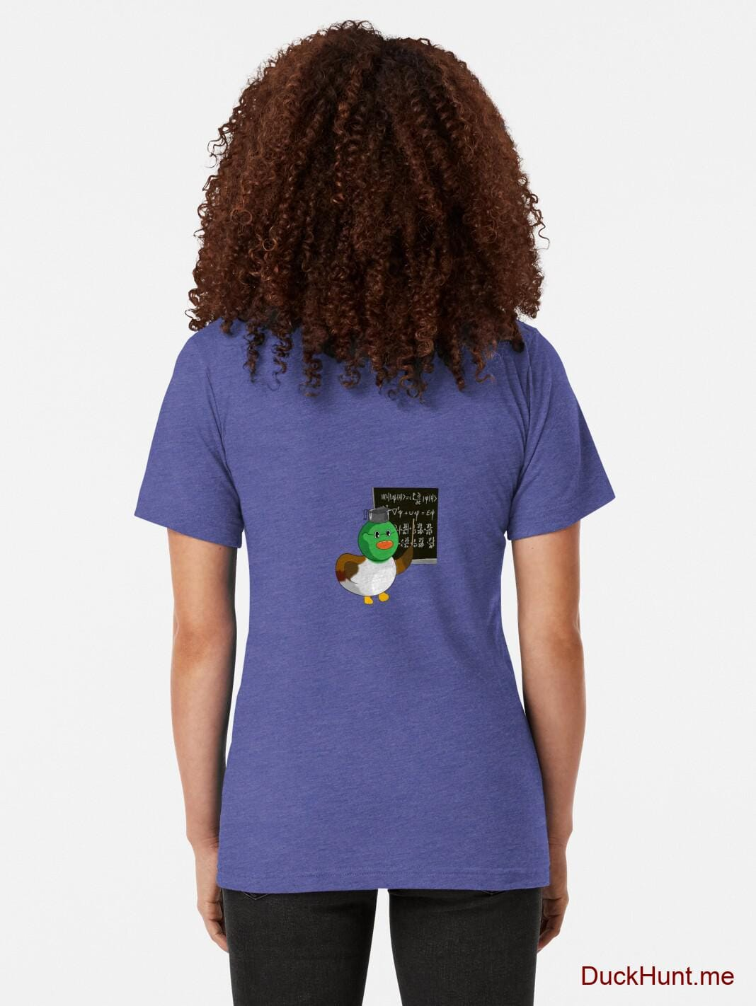 Prof Duck Royal Tri-blend T-Shirt (Back printed) alternative image 1