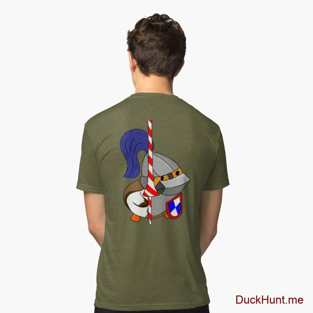 Armored Duck Green Tri-blend T-Shirt (Back printed)