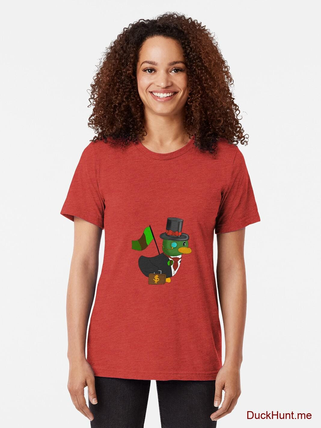 Golden Duck Red Tri-blend T-Shirt (Front printed) alternative image 1
