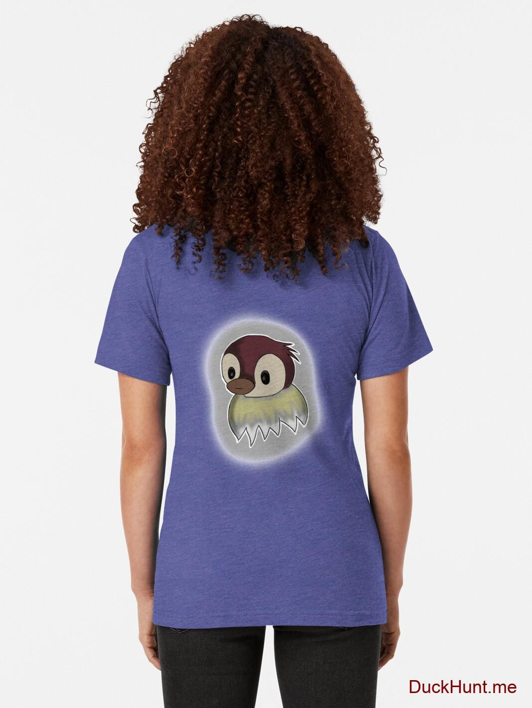 Ghost Duck (foggy) Royal Tri-blend T-Shirt (Back printed) alternative image 1