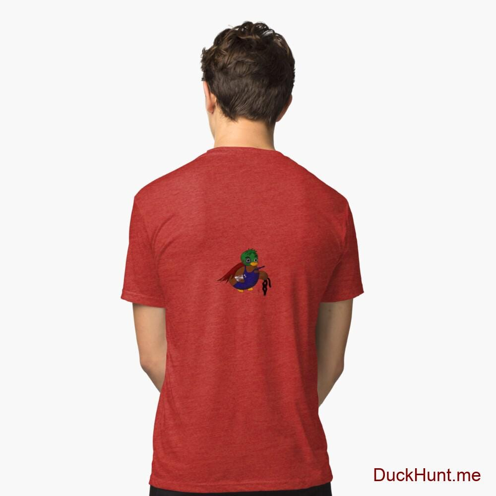 Dead DuckHunt Boss (smokeless) Red Tri-blend T-Shirt (Back printed)