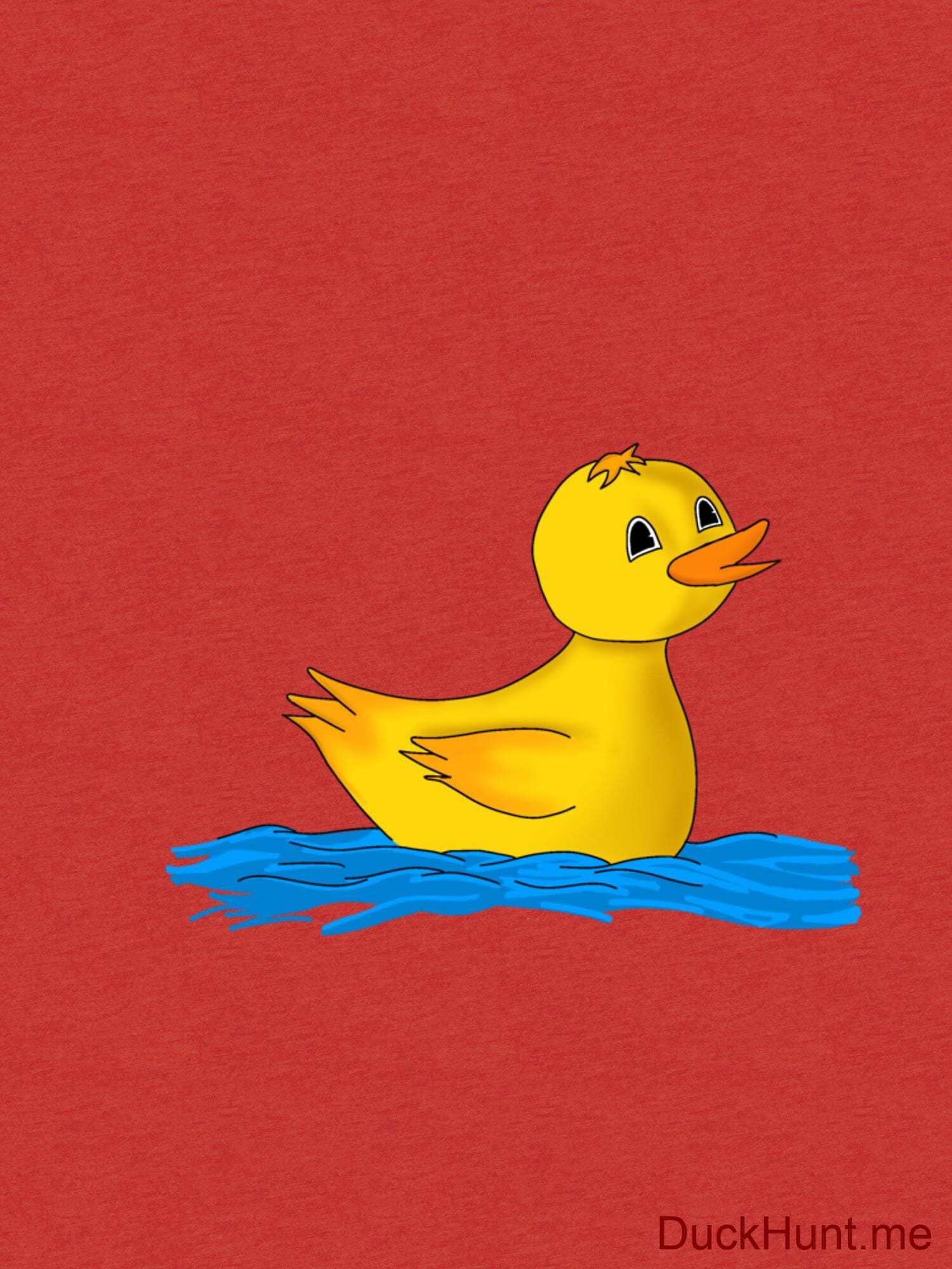 Plastic Duck Red Tri-blend T-Shirt (Front printed) alternative image 2