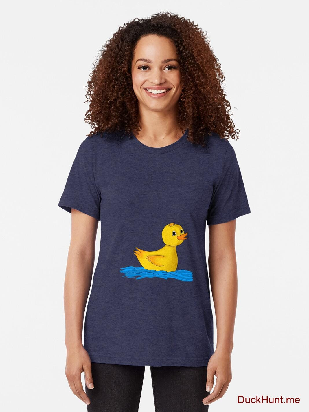 Plastic Duck Navy Tri-blend T-Shirt (Front printed) alternative image 1