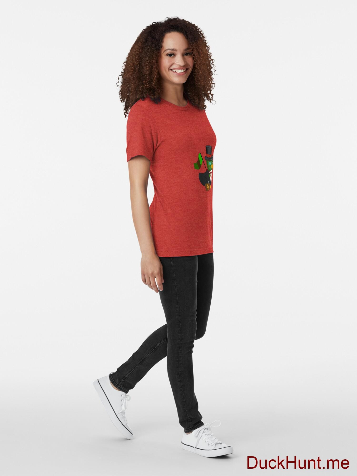Golden Duck Red Tri-blend T-Shirt (Front printed) alternative image 3
