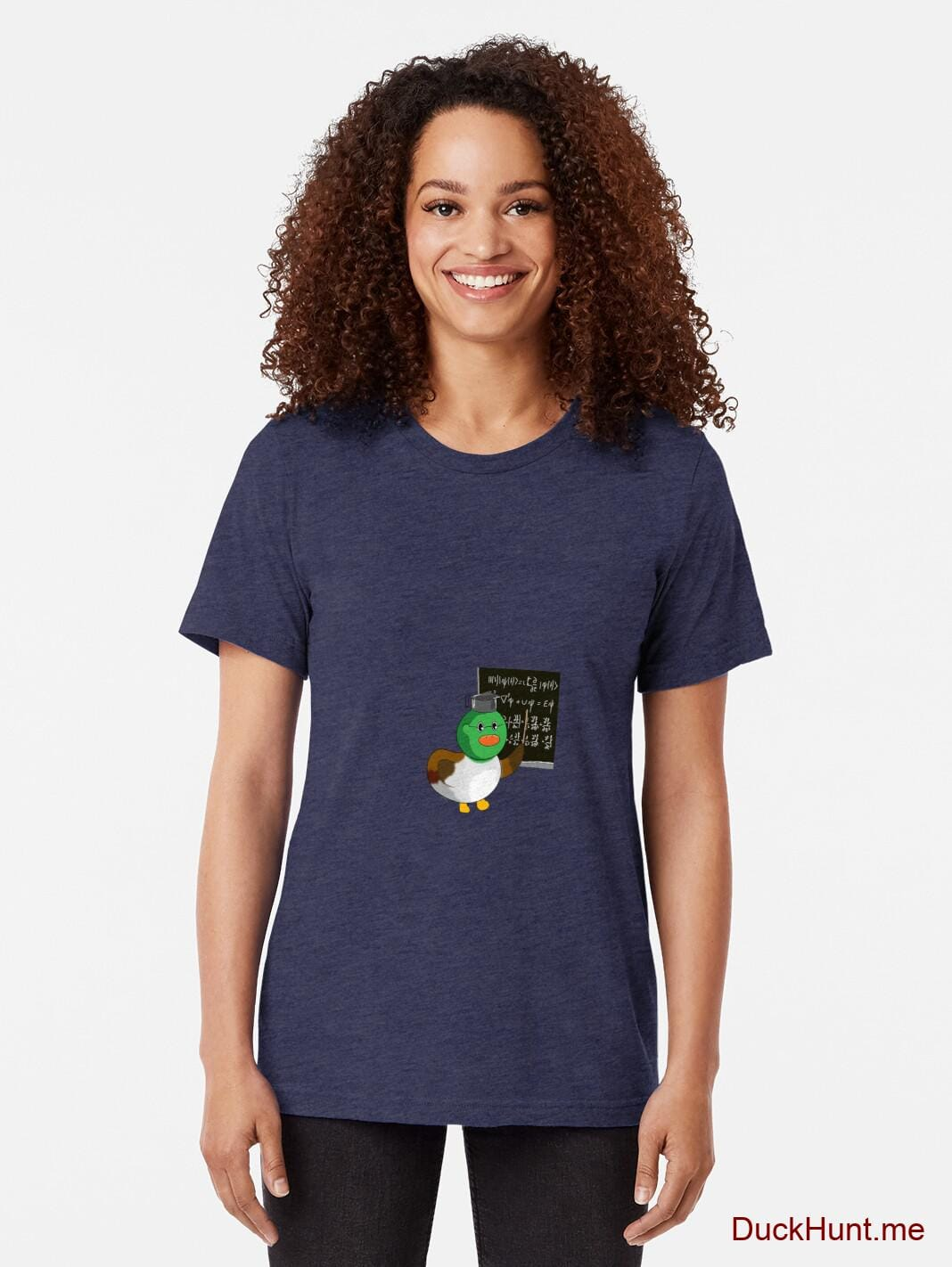 Prof Duck Navy Tri-blend T-Shirt (Front printed) alternative image 1